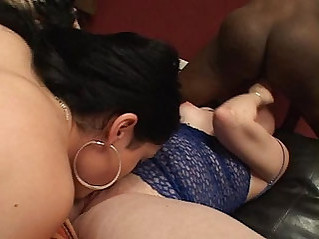 Two white dykes fuck with big butt ebony bitch