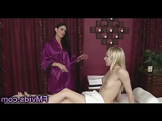 Sexy asian milf india summer with hot blonde