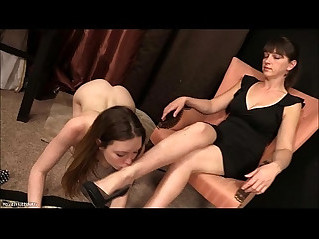 Female foot worship megan starr and mistress claire
