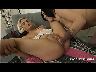 Inga brutally fisting busty amateur blonde Dominica as she moans