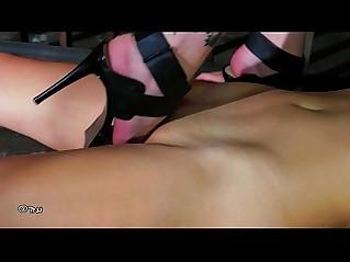SILVIA RUBI IS TRAINING MELISSA trampling BDSM