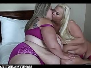 BBW Mandy Majestic has some Lesbian fun with SSBBW Vallery Vixen