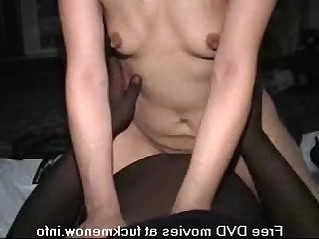 Asian girl gets black and white creampies