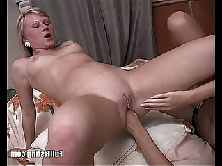 Sexy Russian Teens Strap on Anal Fisting