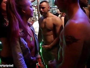 Club sluts fucking in orgy