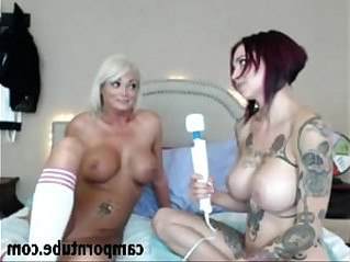 Stunning milf lesbian duo on cam
