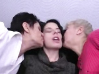 Granny mommy and daughter lesbians