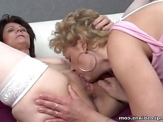 Three horny lesbians go crazy licking