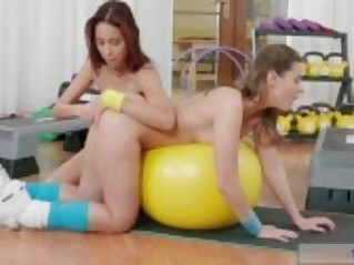 Fitness Rooms Intimate orgasms for juicy butt natural tits lesbians